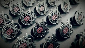 C6 Security Academy Job Placement Assistance Pins
